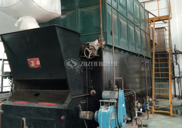 6 tph SZL biomass-fired water tube boiler project for food industry