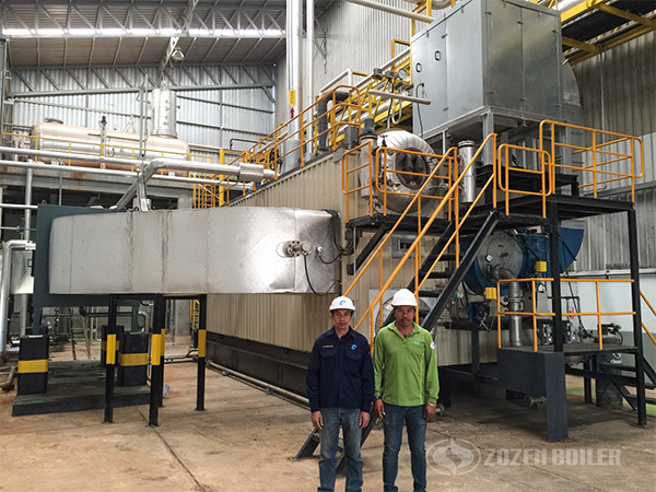 ZOZEN 30 tph SZS gas-fired boiler for food industry in Thailand
