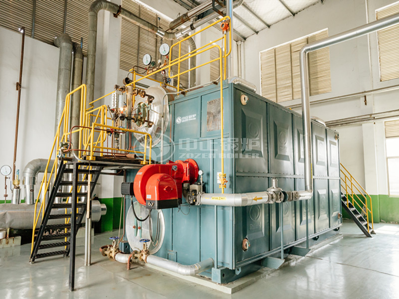 ZOZEN 6 tph SZS series gas-fired steam boiler project for cable industry
