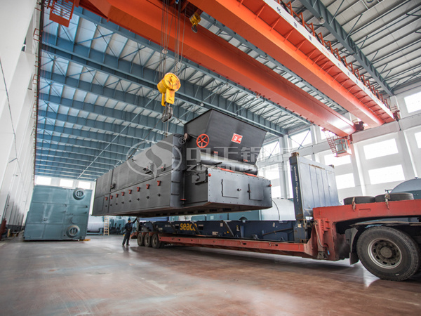 The SZL series biomass fired boiler is being delivered for installation