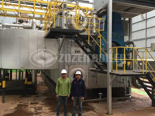 ZOZEN gas-fired (oil-fired) water tube boiler in Thailand food industry