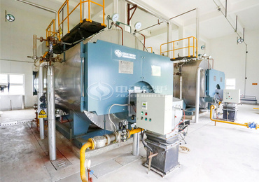 6 tph WNS condensing gas-fired fire tube boiler project for chemical industry