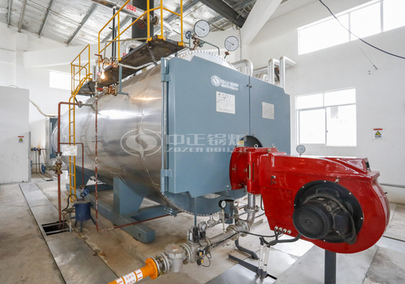 8 tph WNS series condensing gas-fired steam boiler project for food industry