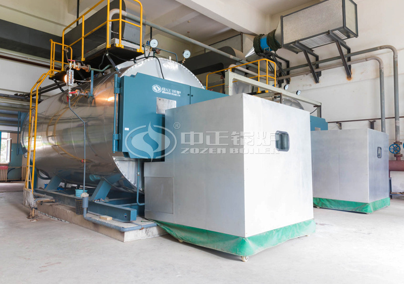 4 tph WNS series condensing gas-fired steam boiler project for universities