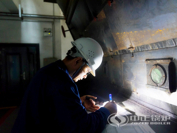 ZOZEN service personnel in Jinxi Petrochemical boiler room