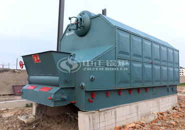 6 tph SZL series coal-fired chain grate steam boiler in Columbia