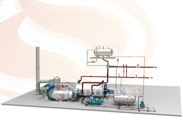 Gas-fired thermal fluid heater system