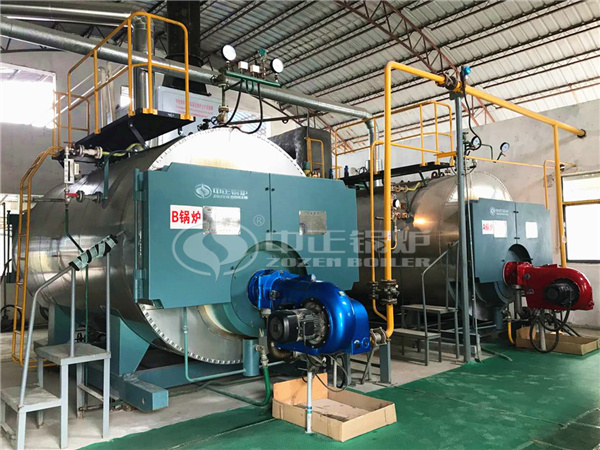 ZOZEN WNS series gas-fired steam boilers for Hanguang Industrial