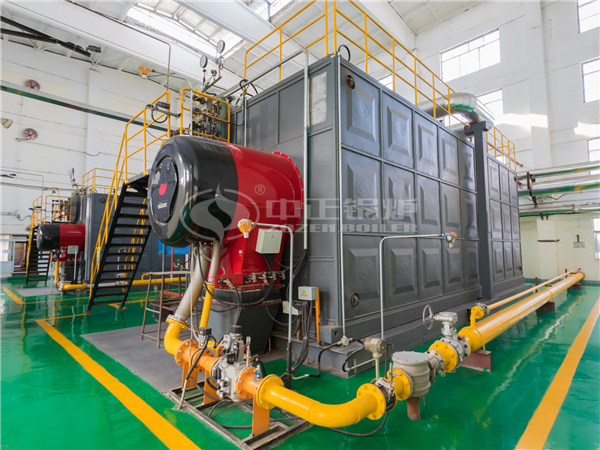 ZOZEN SZS series gas-fired steam boilers for TSAKER Chemical