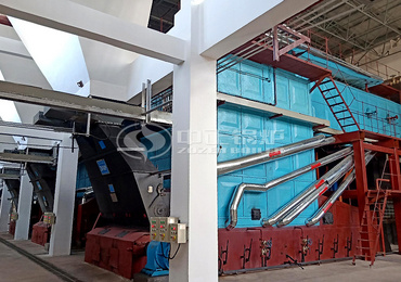 25 tph SZL series chain grate steam boiler for Balasu coal mine project