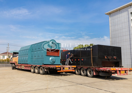 Shipment of 15tph SZL series biomass fired steam boiler