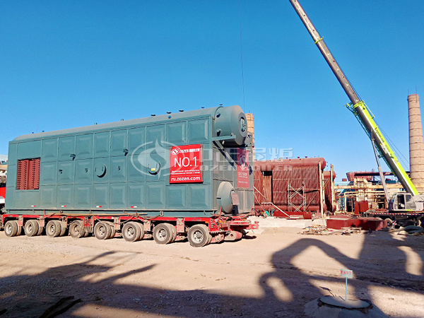 ZOZEN 25tph SZS series gas-fired steam boiler arrived in Uzbekistan