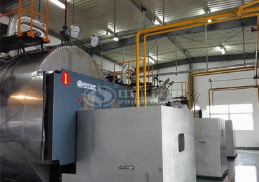 6 tph WNS series gas-fired steam boiler for Geely Auto Linhai Industrial Park