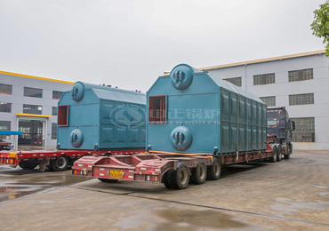 10 tph SZL series chain grate steam boiler for the textile industry