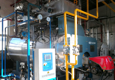 1.5tph WNS series condensing gas-fired steam boiler project for the glassware industry