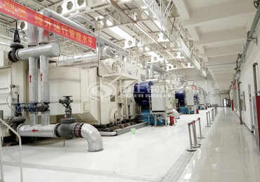 25 tph SZS series gas-fired steam boiler project for Zhengzhou Railway Station