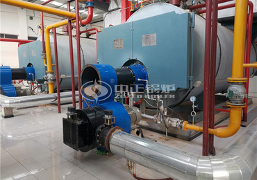 7MW WNS series gas-fired hot water boiler for China Agricultural University Zhuozhou Science and Technology Park