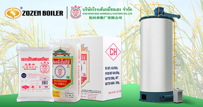 ZOZEN Focuses on Thailand Market and Provides Highly Efficient Gas-fired Thermal Oil Heater for Rice Vermicelli Processing