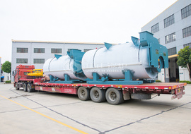 The shipment of  five sets of ZOZEN's 4.2MW WNS series gas-fired hot water boiler for Qinghai Jingan Industrial Equipment Installing Company