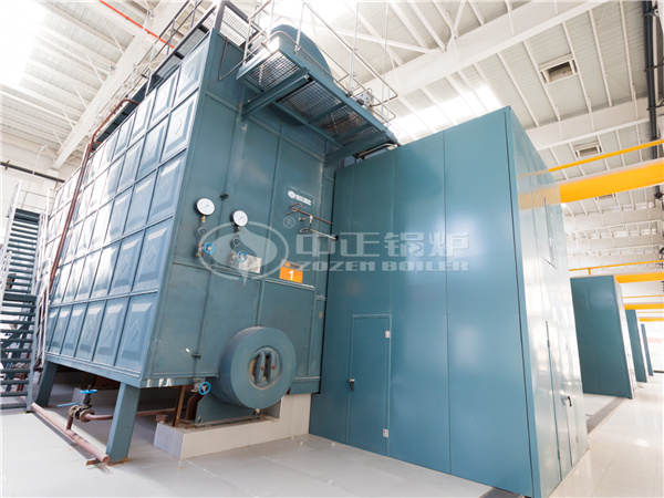 ZOZEN SZS series gas-fired boilers are running at the Xiaohaidi Heating Station in Hexi District, Tianjin