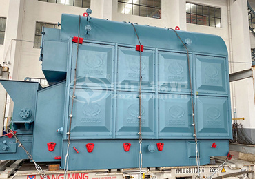 2tph DZL series coal-fired chain grate steam boiler project for the food industry in Mongolia