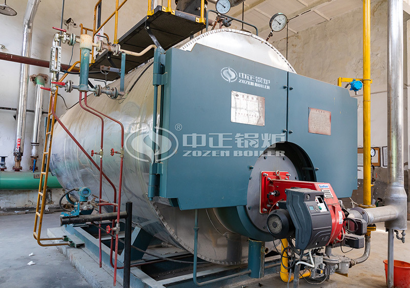 4tph WNS series gas-fired and oil-fired three-pass condensing steam boiler project for the printing and packaging industry