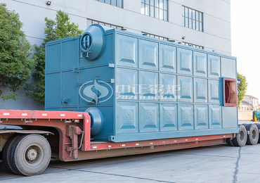 15 tph SZS series biogas-fired superheated steam boiler project in the food industry