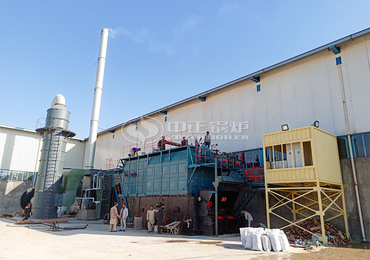 15 tph SZL series coal-fired chain grate steam boiler project for the paper industry in Afghanistan