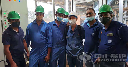 ZOZEN DZW series tri-drum biomass-fired boiler is applied in the palm oil plant in Sri Lanka