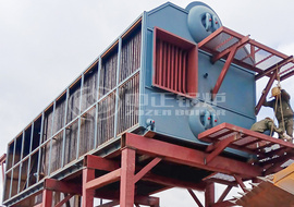 14 MW SZL series coal-fired chain grate hot water boiler project