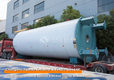 4 Million Kcal YY(Q)L Series Oil/Gas Fired Vertical Thermal Oil Heater Project for Knitwear & Textile Industry