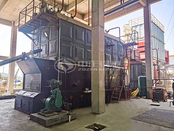 ZOZEN biomass boiler applied in the advanced material project