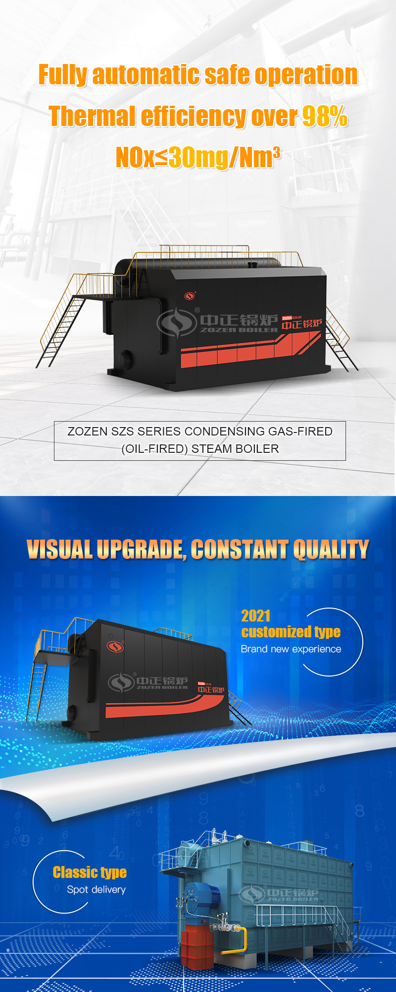Zozen Boioer Co., Ltd. is one of the most powerful industrial boiler manufacturing enterprise in China