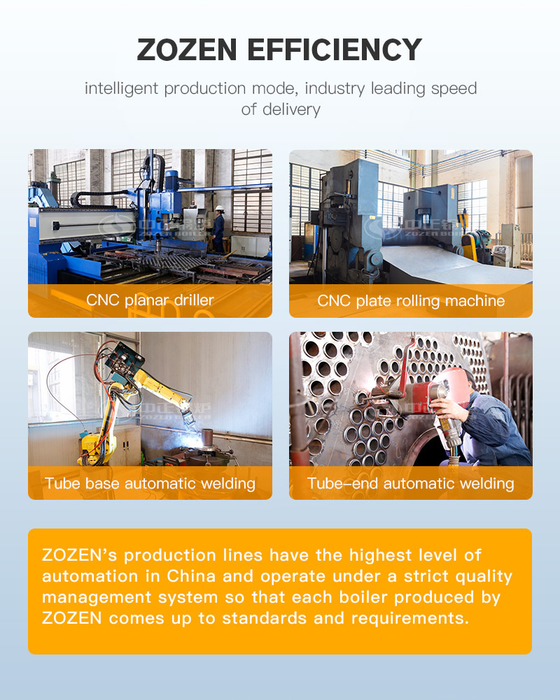 The advantage of WNS series gas-fired(oil-fired) steam boiler