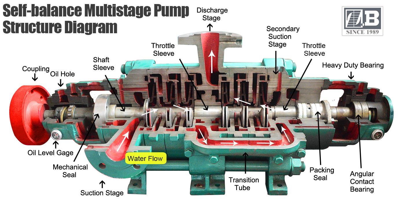 self balance multistage pump structure diagram