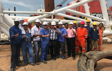 印尼海底输油管道工程验收圆满成功 长沙中联泵业实力担当