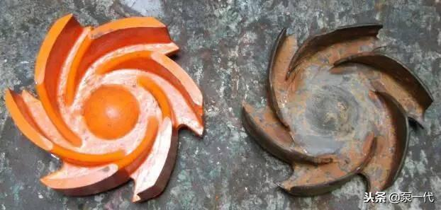 Cavitation damage of downhole wear-resistant self-balancing centrifugal water pump
