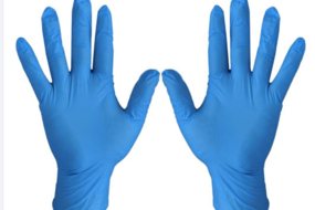 Wholesale Blue Powder Free Medical Nitrile Gloves With High Quality Disposable NItrile gloves