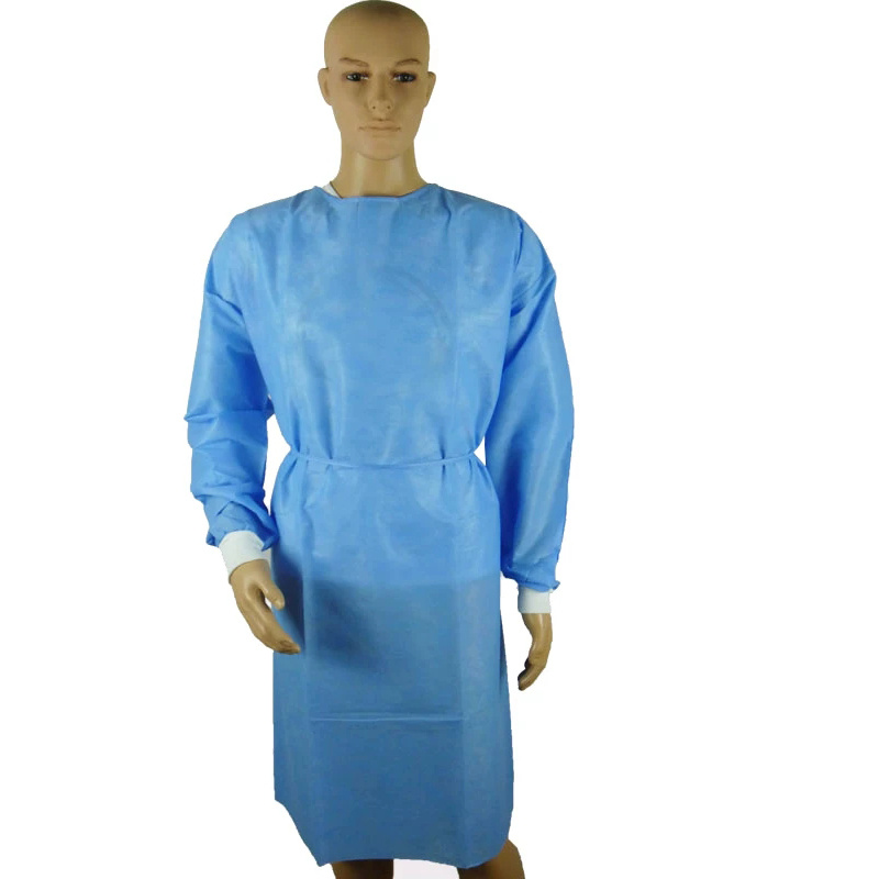 Factory supply SMS standard disposable isolation sterile gown