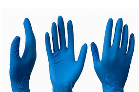 Disposable nitrile gloves blue powder-free gloves hand protection