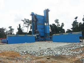 DCSM160 asphalt batch plant in Cameroon