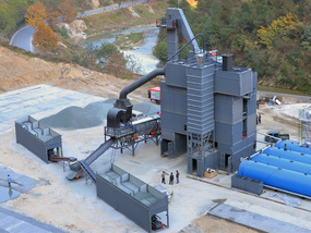 DCMS240 asphalt mixing plant Running Smoothly in hubei