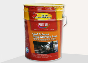 Cold-solvent Road marking paint
