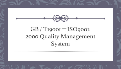 T19001-ISO9001: 2000 Quality Management System