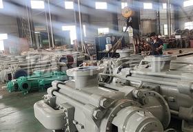 <b>热烈祝贺辽宁某机械有限公司采购长沙中联泵业两台DP型自平衡卧式多级泵下线</b>