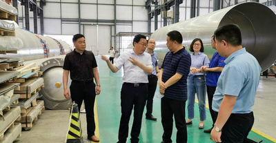 Su Dechao, Director of the Municipal Industry and Information Technology Bureau, and his party visited DEAR air separation for investigation