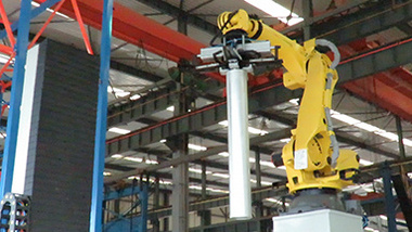 multi-functional six-axis cutting robot in intelligent workshop