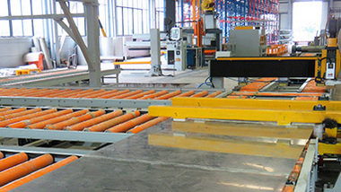 Operational test of intelligent automatic roller line conveying system