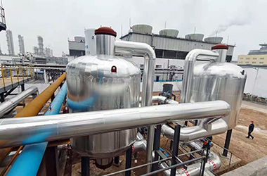 Installation site of DEAR air separation plant