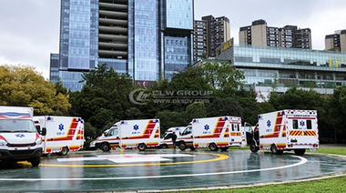 100 Ambulance to World University Summer Games in Chengdu